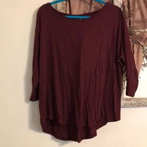 Ana burgundy shirt